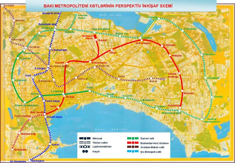 Баку: метро будут строить