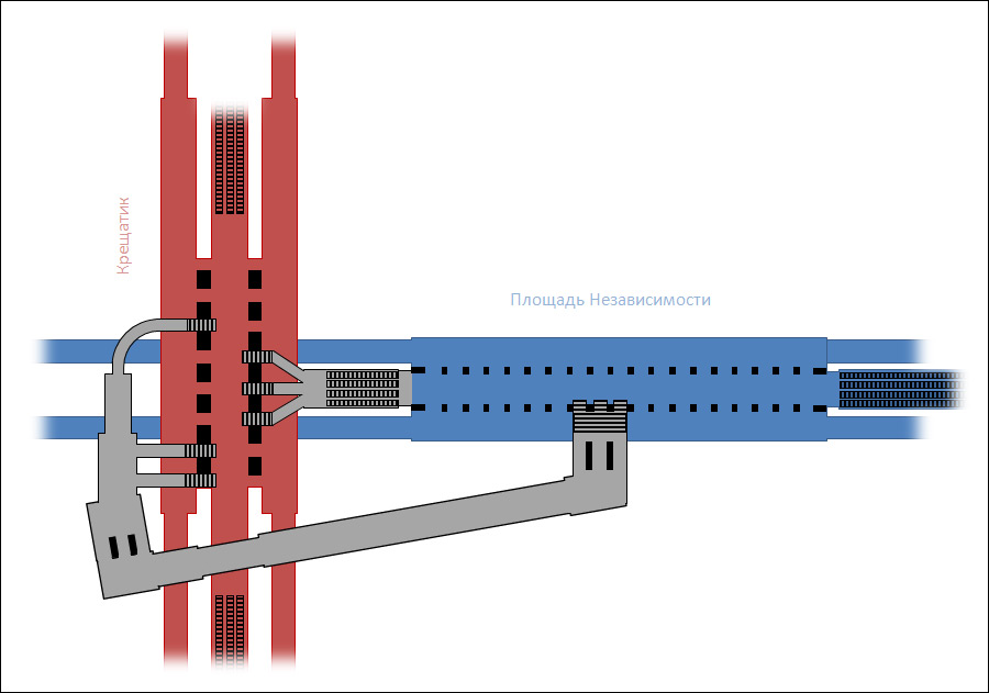 Схема пересадочного узла.