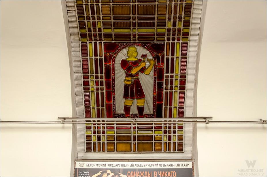 станция метро институт культуры художественное стекло