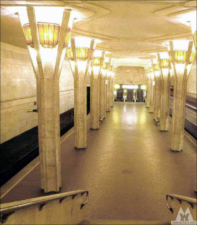 станция метро октябрьская минск старое фото