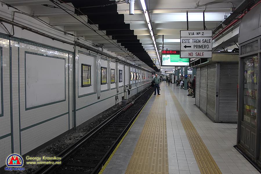 Станция Plaza de Mayo (Майская площадь). Расположена под главной площадью города