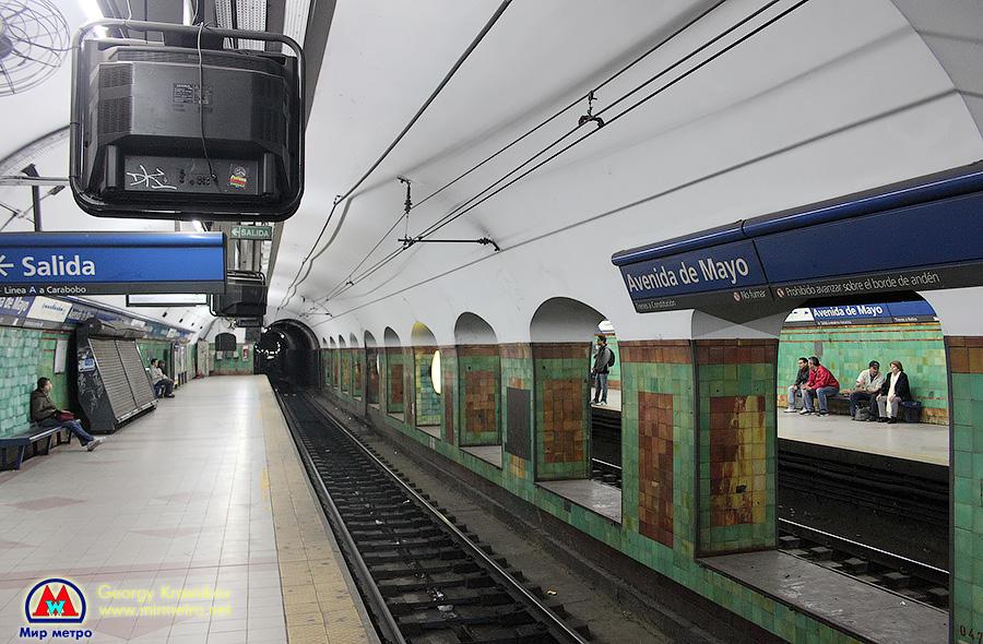 Станция Avenida de Mayo (Майский проспект)