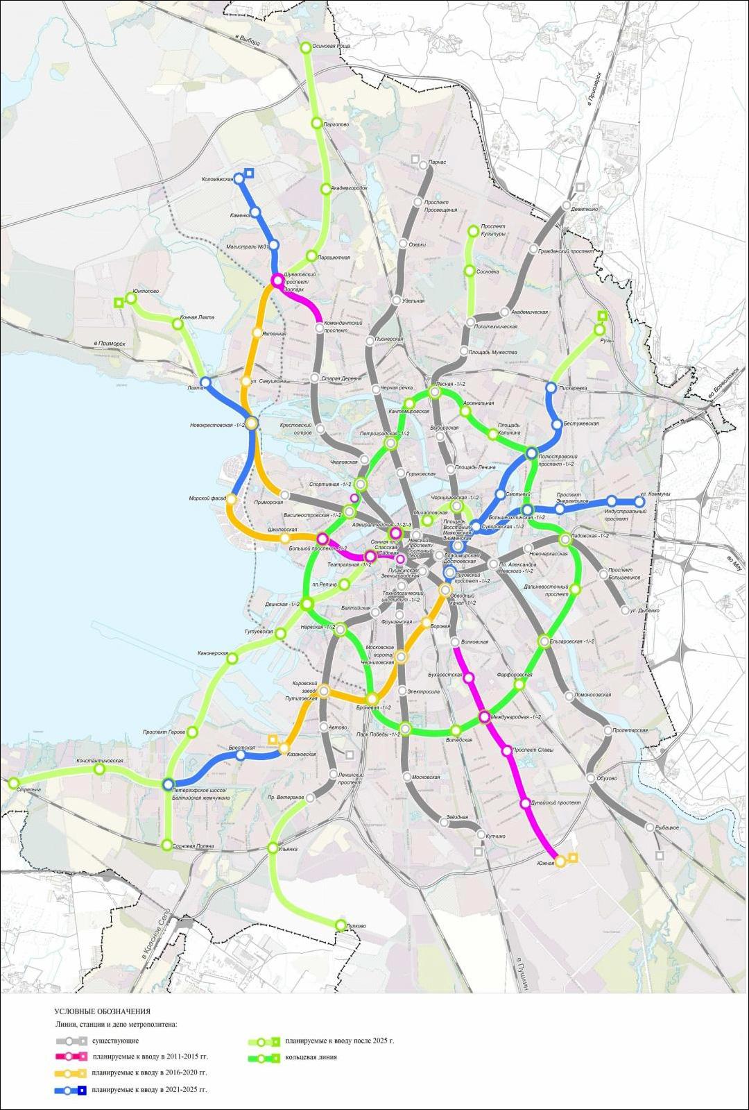 Схема метро санкт петербург перспектива фото 363