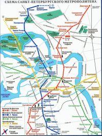 Санкт петербургский метрополитен схема 351