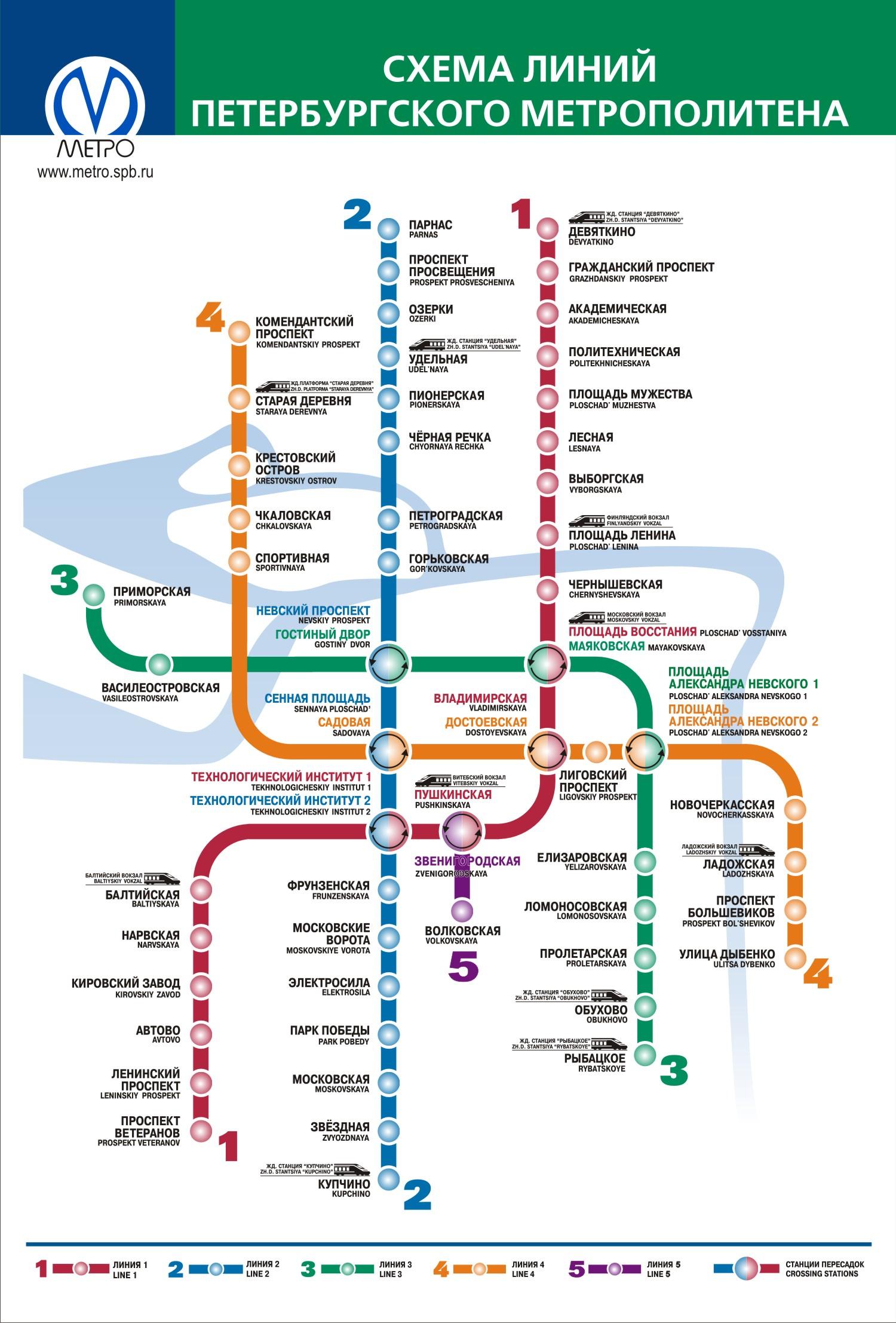 Схема метрополитена с расчетом спб